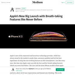 Apple's New Big Launch with Breath-taking Features like Never Before
