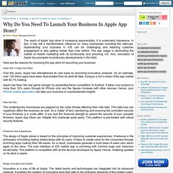 Why Do You Need To Launch Your Business In Apple App Store? by Arun Goyal