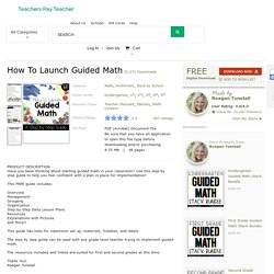 How To Launch Guided Math by Reagan Tunstall