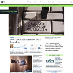 CUNY to Launch Master's in Social Journalism