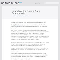 Launch of the Kaggle Data Science Wiki