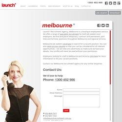 melbourne recruitment information