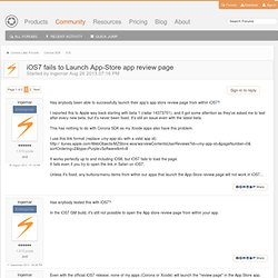 iOS7 fails to Launch App-Store app review page - iOS - Corona Labs Forums