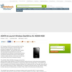 ADATA Wireless DashDrive Air AE800 HDD