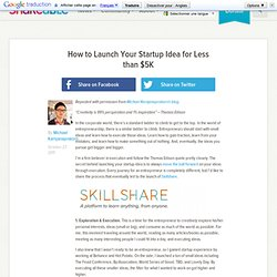 How to Launch Your Startup Idea for Less than $5K