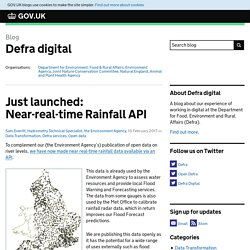Just launched: Near-real-time Rainfall API
