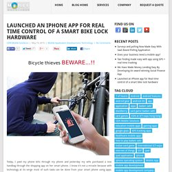 Do You Want iPhone App for Locking Your Bike?