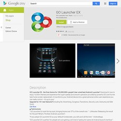 GO Launcher EX - Apps on Android Market