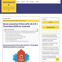 Nova Launcher Prime APK v6.2.13 + Final Mod 2020 for Android