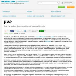 Jive Launches Advanced Gamification Module (Nasdaq:JIVE)