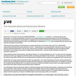Jive Launches Advanced Gamification Module (Nasdaq:JIVE)