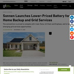 Sonnen Launches Lower-Priced Battery for Home Backup and Grid Services