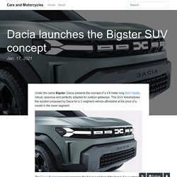Dacia launches the Bigster SUV concept - Cars and Motorcycles