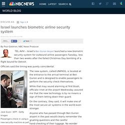 Israel launches biometric airline security system