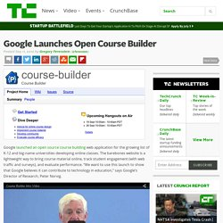 Google Launches Open Course Builder