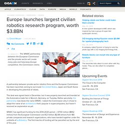 Europe launches largest civilian robotics research program, worth $3.8BN