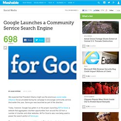Google Launches a Community Service Search Engine