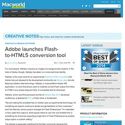 Adobe launches Flash-to-HTML5 conversion tool | Graphics & 3-D | Creative Notes