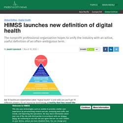 HIMSS launches new definition of digital health