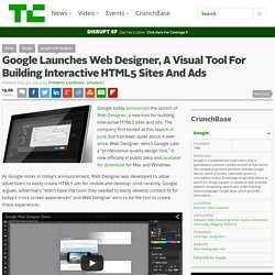 Google Launches Web Designer, A Visual Tool For Building Interactive HTML5 Sites And Ads