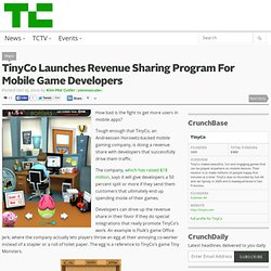 TinyCo Launches Revenue Sharing Program For Mobile Game Developers