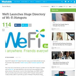 WeFi Launches Huge Directory of Wi-Fi Hotspots