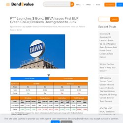 PTT Launches $ Bond; BBVA Issues First EUR Green CoCo; Braskem Downgraded to Junk - BondEvalue