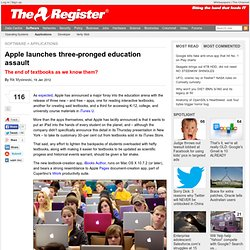 Apple launches three-pronged education assault