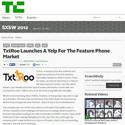 TxtRoo Launches A Yelp For The Feature Phone Market
