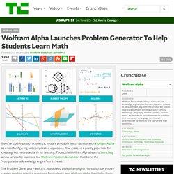 Wolfram Alpha Problem Generator