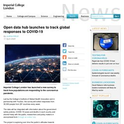 Open data hub launches to track global responses to COVID-19