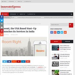 Roomi, USA Based StartUp Launches its Services In India