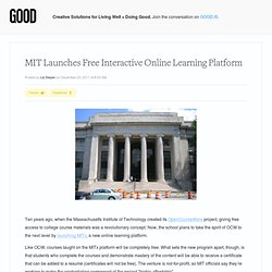 MIT Launches Free Interactive Online Learning Platform - Education