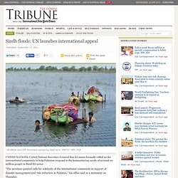 Sindh floods: UN launches international appeal