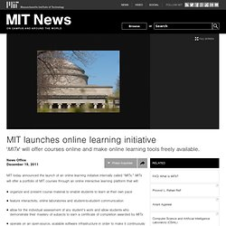launches online learning initiative