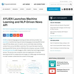 AYLIEN Launches Machine Learning and NLP-Driven News API