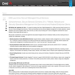 DMI Launches Secure Managed Cloud Services