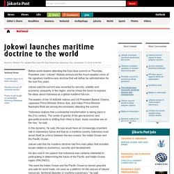Jokowi launches maritime doctrine to the world