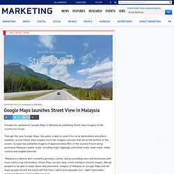 Google Maps launches Street View in Malaysia