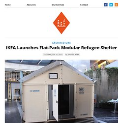 IKEA Launches Flat-Pack Modular Refugee Shelter - The Pop-Up City - Waterfox