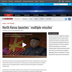 North Korea Launches 'Multiple Missiles'