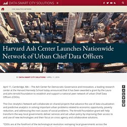Harvard Ash Center Launches Nationwide Network of Urban Chief Data Officers
