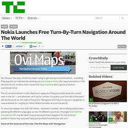Nokia Launches Free Turn-By-Turn Navigation Around The World