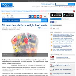 EU launches platform to fight food waste