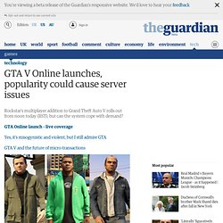 GTA V Online launches, popularity could cause server issues