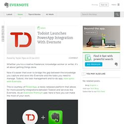 Todoist Launches PowerApp Integration With Evernote