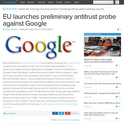 EU launches preliminary antitrust probe against Google