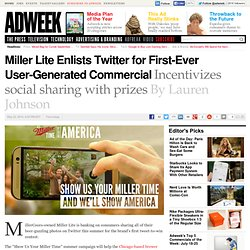 Miller Lite launches first tweet-to-win promotion to fuel TV content