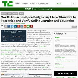Mozilla Launches Open Badges 1.0, A New Standard to Recognize and Verify Online Learning and Education