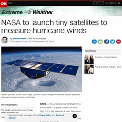 NASA launches tiny satellites to measure hurricane winds